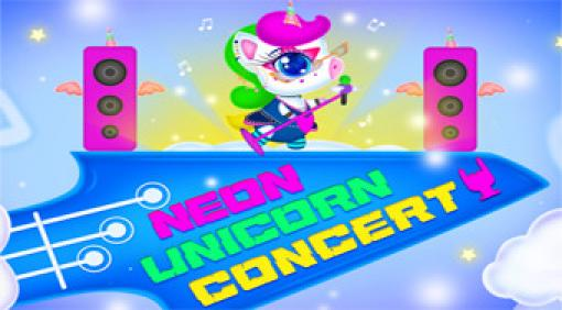 neon unicorn concert  kostenlos spielen auf topspielede